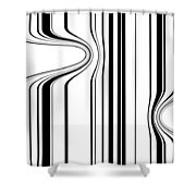 Barcode  C2014 Shower Curtain by Paul Ashby