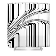 Barcode II  C2014 Shower Curtain by Paul Ashby