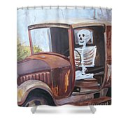 Bare Bones Shower Curtain