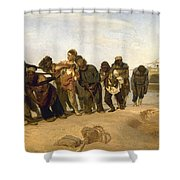 Barge Haulers On The Volga Shower Curtain
