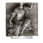 Bargello Sculpture Shower Curtain