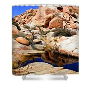 Barker Dam Big Horn Dam By Diana Sainz Shower Curtain