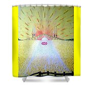 Barley Bridge In Wheat-shire Shower Curtain