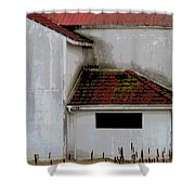 Barn - Geometry - Red Roof Shower Curtain