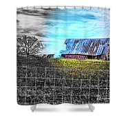 Barn 23 - Featured In Comfortable Art  And Artists Of Western Ny Groups Shower Curtain