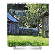 Barn And Chicken Coop Shower Curtain