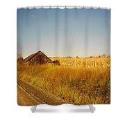 Barn And Corn Field Shower Curtain