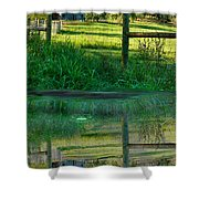 Barn And Fence Shower Curtain