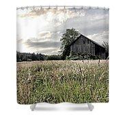 Barn And Grass Shower Curtain