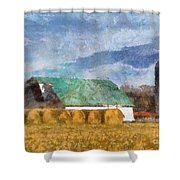 Barn And Silo In West Virginia Shower Curtain