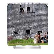 Barn And Tractor Pei Shower Curtain