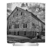 Barn At Amhi   7k00333 Shower Curtain by Guy Whiteley