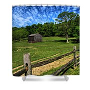 Barn At Hartwood Acres Under Beautiful Sky Shower Curtain