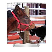 Barn Buddies Shower Curtain