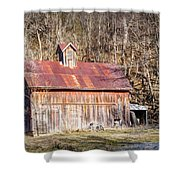 Barn By The Bluffs Shower Curtain