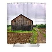 Barn By The Road Square Shower Curtain