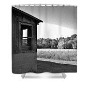 Barn Corner Shower Curtain