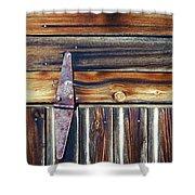 Barn Door Shower Curtain by Wayne Sherriff