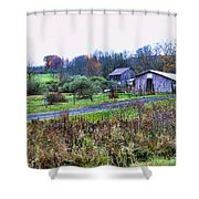 Barn - End Of The Road Shower Curtain
