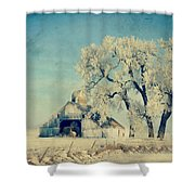 Winter Time Blues Shower Curtain