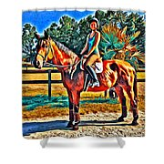 Barn Horse Two Shower Curtain