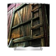 Barn In May Moonlight Shower Curtain