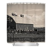 Barn In Polaroid Shower Curtain