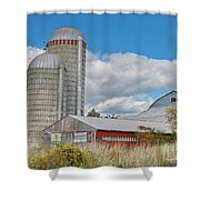 Barn In The Clouds Shower Curtain
