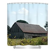 Barn In The Grass Shower Curtain