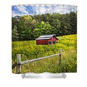 Barn In The Meadow Shower Curtain