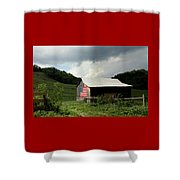 Barn In The Usa Shower Curtain