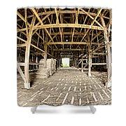 Barn Interior Shower Curtain