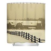 Barn Lake Placid N Y Shower Curtain