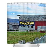 Barn - Mail Pouch Tobacco Shower Curtain