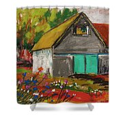 Barn Off From The Garden Shower Curtain