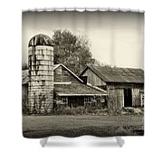 Barn - Old And Run Down Shower Curtain