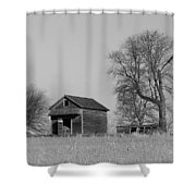 Barn On A Hill In Iowa Shower Curtain