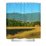 Barn On Cascade Road In Rockport Shower Curtain