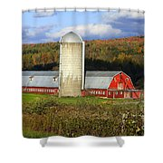 Barn On The River Rd. Shower Curtain