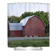 Barn On The Road Shower Curtain