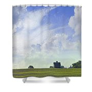 Barn On Top Of The Hill Shower Curtain