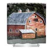 Barn On Va Creeper Trail Shower Curtain
