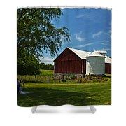 Barn Painting Shower Curtain