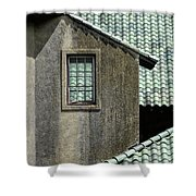 Barn Roofs At The Crane Estate Shower Curtain