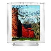 Barn Shadows Shower Curtain