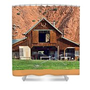 Barn Ten Sleep Wyoming Shower Curtain