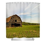 Barn On The Field Shower Curtain