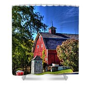 Barn With Out-sheds Brunner Family Farm Shower Curtain