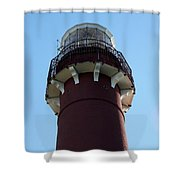 Barnegat Light - Lighthouse Top Shower Curtain
