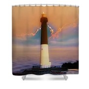 Barnegat Lighthouse In New Jersey Shower Curtain